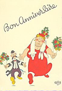 Bon Anniversaire Postcard cs4241 (Image1)