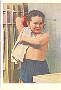 Young Boy On A Russian Postcard Cs4252
