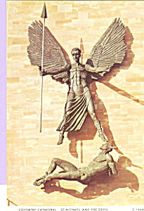 St Michael and The Devil Coventry Cathedral  England cs4343 (Image1)