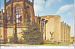 Old and New East Side Coventry Cathedral  England cs4346 (Image1)