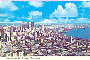 Seattle and Mount Rainier, Washington (Image1)