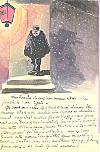 Policeman in doorway of Station cs4406 (Image1)