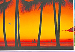 Sunset Mood on Beach Near Waikiki  Hawaii cs4539 (Image1)