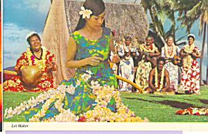 Lei Maker and The Kodak Hula Show Hawaii cs4541 (Image1)