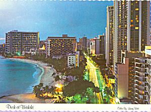 Dusk at Waikiki Oahu Hawaii cs4547 (Image1)