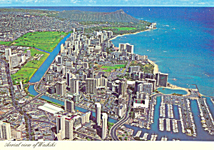 Aerial View Of Waikiki Oahu Hawaii Cs4549