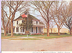Exterior Eisenhower Boyhood Home Abilene Kansas Cs4602
