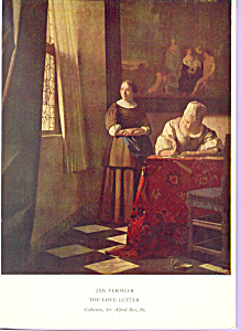 The Love Letter, Jan Vermeer (Image1)