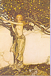 Eve Picking Fruit From Forbidden Tree (Image1)