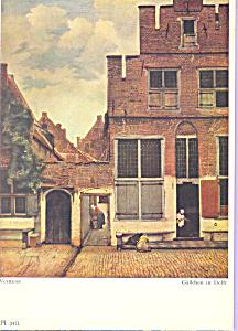 Gasschen in Delft, Jan Vermeer (Image1)
