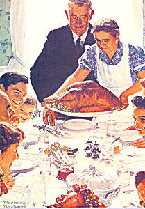 Feedom From Want Norman Rockwell Postcard cs4672 (Image1)