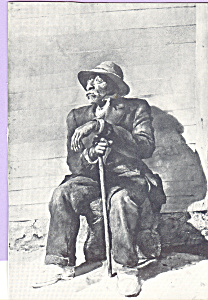 Seated Old Man with Cane Postcard cs4678 (Image1)