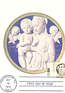 Madonna and Child with Cherubim Postcard cs4681 (Image1)