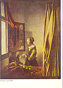 The Letter Vermeer of Delft Postcard cs4694 (Image1)