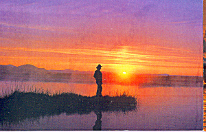 Scenic Sunset Over A Lake Postcard Cs4718