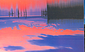 Scenic Sunset Over A Lake Postcard Cs4726