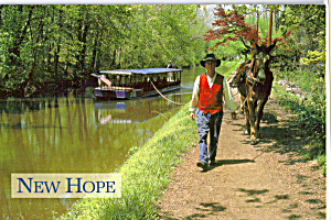 Mule Driver, Delaware Canal, New Hope (Image1)
