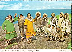 Eskimo Dancers  Alaska Postcard cs4854 (Image1)