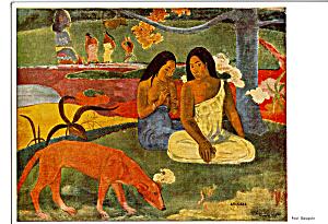 Arearea Paul Gauguin Postcard cs4903 (Image1)