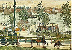 East River Park  Maurice Prendergast Postcard cs4906 (Image1)