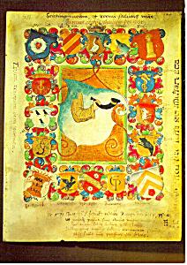 Illuminiertes Titelblatt zur Rektoratsperiode (Image1)