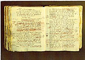 Manuskriptseite von Luthers Ubersetzung des Alten Test. (Image1)