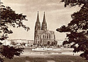 Cologne Cathedral Germany Postcard Cs4994