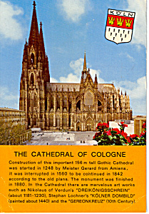 The Cathedral Of Cologne Germany Cs5003