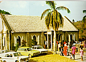 Cavalia Hill Methodist Church,Montserrat Vintage Cars (Image1)