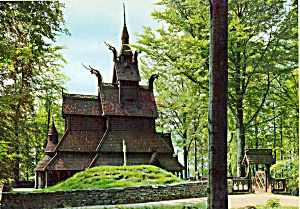 Fantoft Stave Church Bergen Norway cs5017 (Image1)