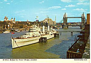 H M S Belfast by Tower Bridge London cs5097 (Image1)