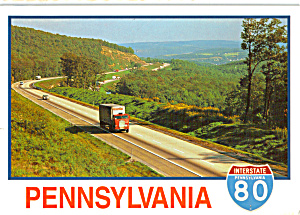 I 80 The Pennsylvania Shortway Postcard Cs5151