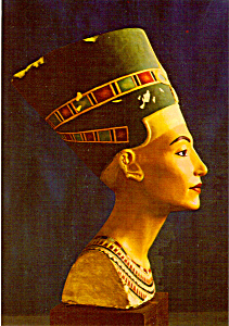 Painted Limestone Bust of Queen Nefertiti Egypt cs5272 (Image1)