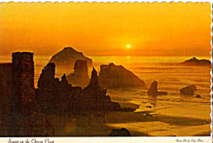 Sunset Splendor On Rugged Scenic Oregon Coast Cs5328
