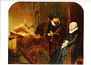 Der Mennonitenprediger Anslo Rembrandt Postcard cs5360 (Image1)