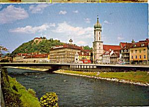 Graz Murbrucke mit Franziskonerkirche Austria cs5424 (Image1)