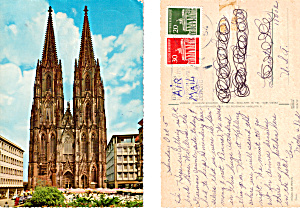 Cologne Cathedral Postcard Cs5493