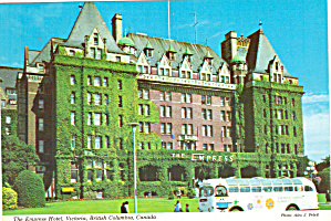 Empress Hotel Victoria British Columbia Canada Cs5496 Vintage Bus In View