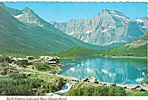 Many Glacier Hotel Glacier National Park Postcard cs5524 (Image1)