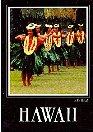 Hula Dancers Hawaii Postcard cs5536 (Image1)