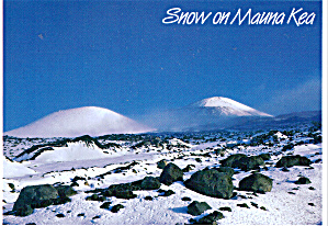 Snow on Mauna Kea Hawaii Postcard cs5547 (Image1)