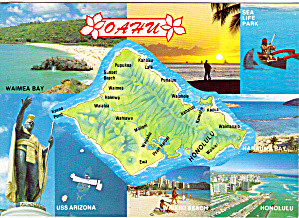 Map of Oahu Hawaii (Image1)