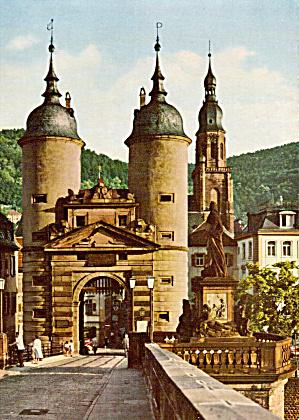 Das Bruckentor mit Karl Theodor Denkmal  Heidelberg Germany cs5589 (Image1)