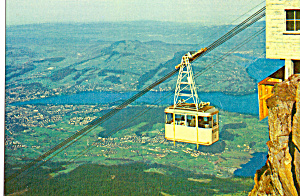 Aerial Cableway View Of Lucerne Switzerland Cs5600