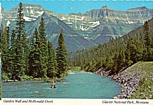 Garden Wall and McDonald Creek,Glacier National Park (Image1)