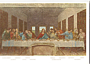 The Last Supper by  Leonard De Vinci Postcard cs5647 (Image1)