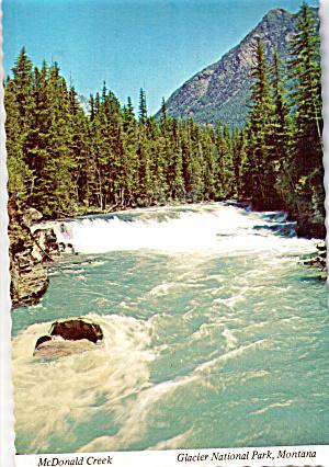 Falls in McDonald Creek,Glacier National Park (Image1)