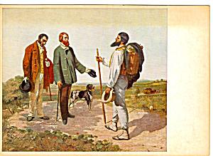 Bonjou Monsieur Courbet by Gustave Courbet Postcard cs5685 (Image1)