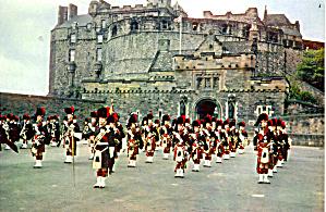 The Castle Edinburgh Scotland Postcard cs5698 (Image1)