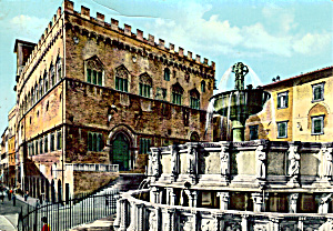 Town Hall Palace and High Fountain Perugia Italy cs5705 (Image1)